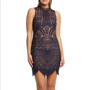 Bardot Alice Lace Body-Con Dress in Twilight